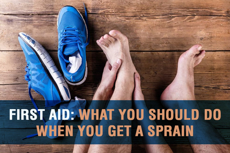 First Aid: What You Should Do When You Get A Sprain